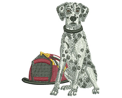Embroidery Design: Fire Dalmatian Med 3.25w X 3.93h