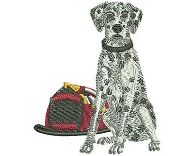 Embroidery Design: Fire Dalmatian Sm 2.83w X 3.42h