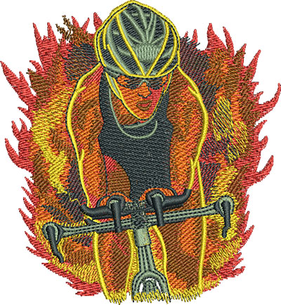 Embroidery Design: Triathlon Bike Ride Lg 4.15w X 4.51h