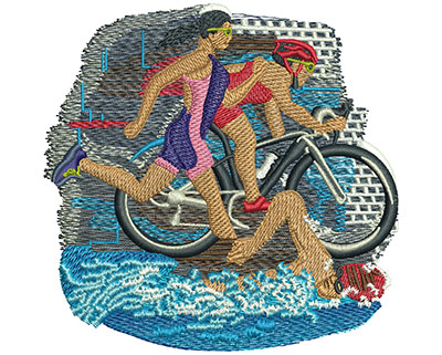 Embroidery Design: Triathlon Trio Med 4.00w X 3.92h