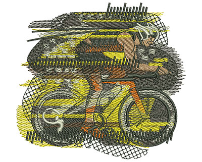 Embroidery Design: Bike Race Med 4.07w X 3.76h