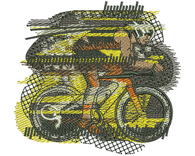 Embroidery Design: Bike Race Sm 3.57w X 3.29h