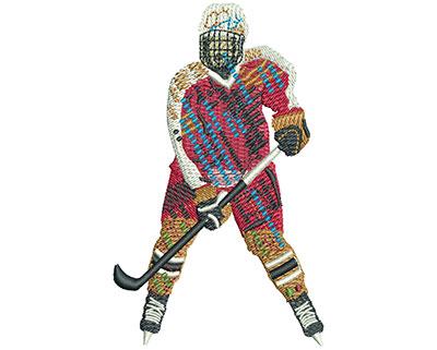 Embroidery Design: Fenetic Hockey Lg 2.47w X 4.04h