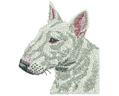 Embroidery Design: Bull Terrier Lg 3.95w X 4.51h