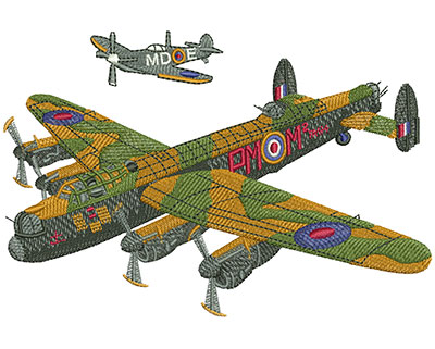 Embroidery Design: Battle Of Britain Lg  5.97w X 3.98h
