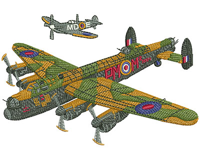 Embroidery Design: Battle Of Britain Med 4.97w X 3.32h