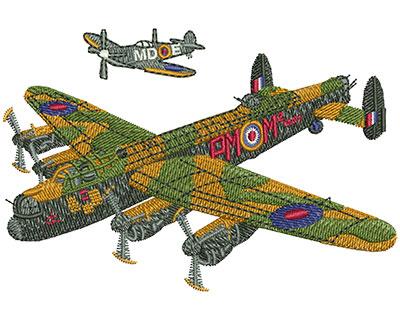 Embroidery Design: Battle Of Britain Sm 3.97w X 2.65h