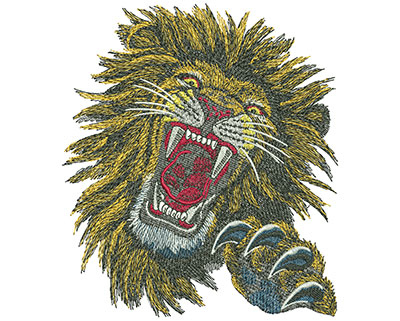 Embroidery Design: Lion Face Lg 5.26w X 5.99h