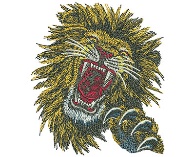 Embroidery Design: Lion Face Sm 3.50w X 3.99h