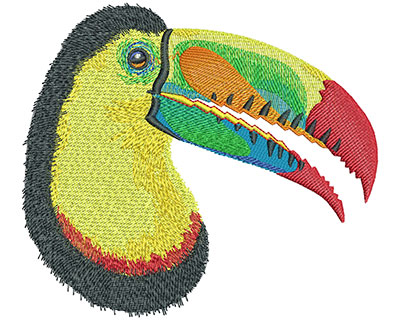 Embroidery Design: Toucan Lg 5.96w X 5.27h