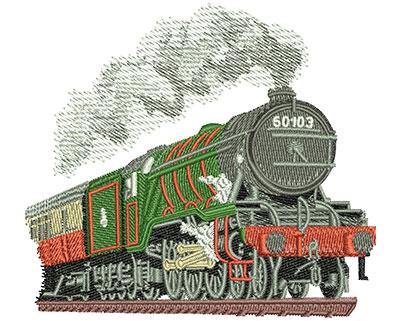 Embroidery Design: Steam Engine Sm 3.92w X 3.53h