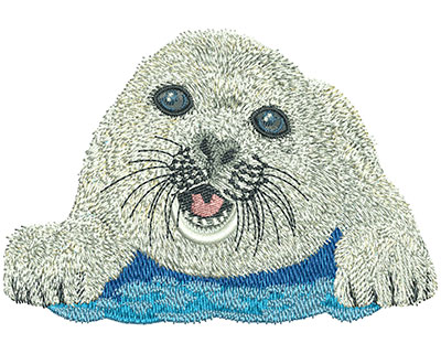 Embroidery Design: Baby Seal Lg  4.42w X 3.02h
