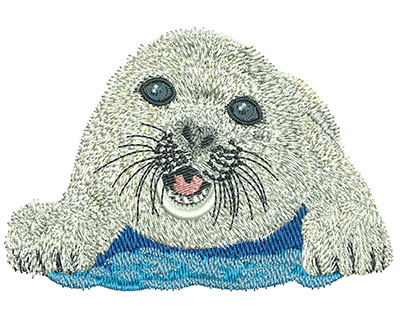 Embroidery Design: Baby Seal Med 3.95w X 2.69h