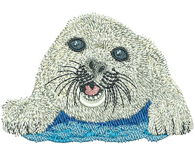 Embroidery Design: Baby Seal Sm 3.44w X 2.35h