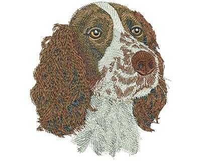 Embroidery Design: Springer Spaniel Lg 4.01w X 4.50h