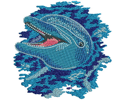 Embroidery Design: Dolphin Play Sm 4.50w X 4.51h