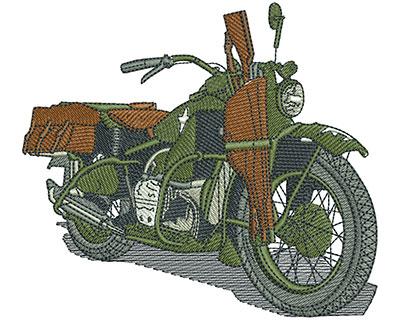 Embroidery Design: Shotgun Bike Lg 4.50w X 3.98h