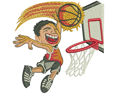 Embroidery Design: Kid Jump Dunk Lg  4.46w X 4.51h