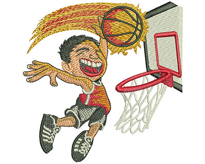 Embroidery Design: Kid Jump Dunk Med 3.97w X 4.01h