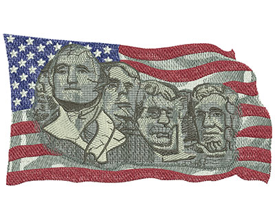 Embroidery Design: Mount Rushmore Med 6.97w X 3.95h