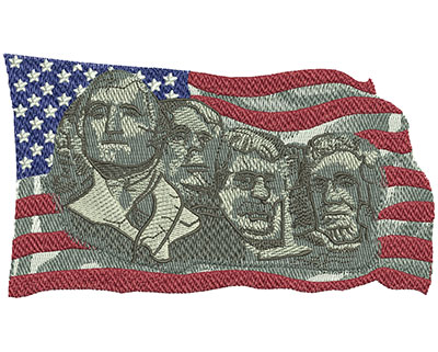 Embroidery Design: Mount Rushmore Sm 5.97w X 3.39h