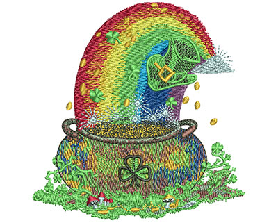 Embroidery Design: Pot Of Gold Sm 3.41w X 3.51h