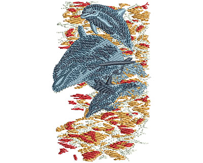 Embroidery Design: Dolphin Jumping Sm 1.71w X 2.74h
