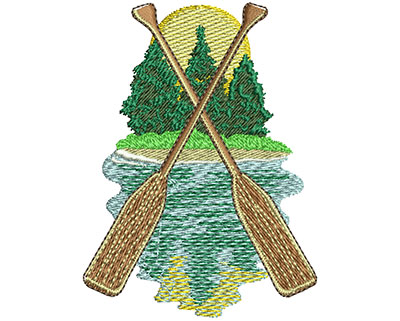 Embroidery Design: Camp Oars Med 2.40w X 3.24h