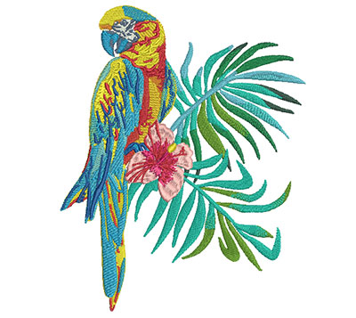 Embroidery Design: Macaw Medium8.27H x 6.65W