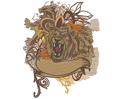 Embroidery Design: Fashion Lions Lg 6.38w X 8.07h