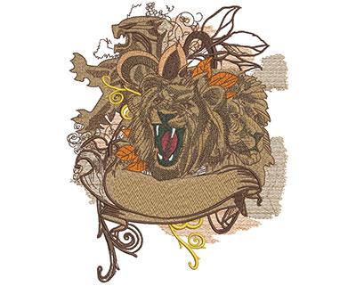 Embroidery Design: Fashion Lions Lg 6.38w X 8.07h