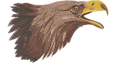 Embroidery Design: Eagle Head Lg 12.02w X 7.42h