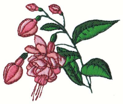 """Embroidery Design: Fuschia3.06"""" x 2.69"""""""