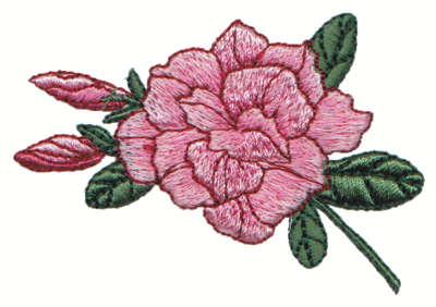 "Embroidery Design: Wild Rose2.99"" x 2.04"""
