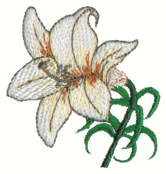 """Embroidery Design: Lily2.09"""" x 2.16"""""""