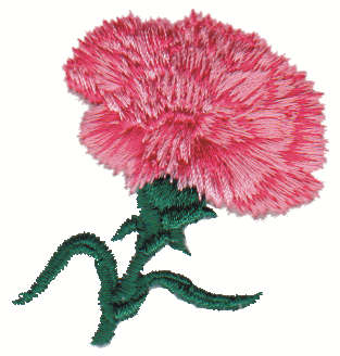 """Embroidery Design: Carnation2.06"""" x 2.09"""""""