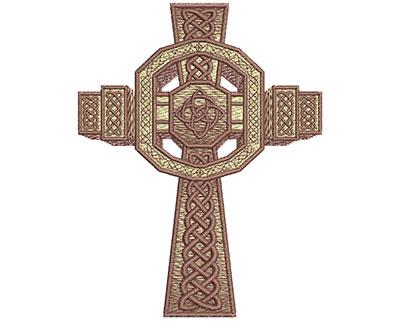 Embroidery Design: Celtic Irish Cross Lg 3.52w X 4.54h