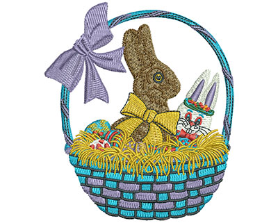 Embroidery Design: Chocolate Easter Bunny Lg 3.92w X 4.52h