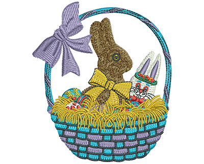 Embroidery Design: Chocolate Easter Bunny Med 3.49w X 4.03h