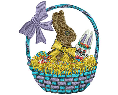 Embroidery Design: Chocolate Easter Bunny Sm 3.06w X 3.52h