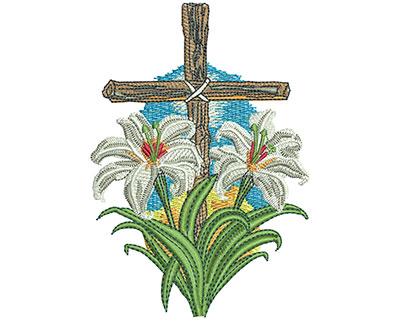 Embroidery Design: Lenten Lilies Lg 3.14w X 4.52h
