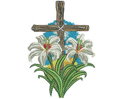 Embroidery Design: Lenten Lilies Sm 2.45w X 3.52h