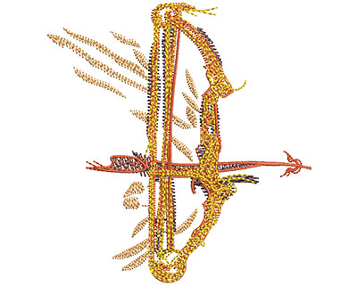 Embroidery Design: Compound Bow Fire Sm 2.80w X 2.98h