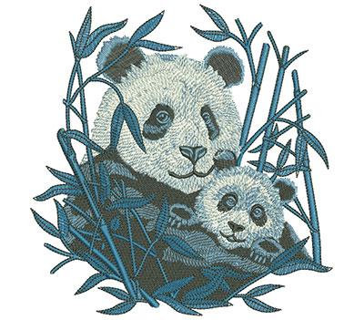 Embroidery Design: Panda And Cub Lg 5.83w X 5.99h
