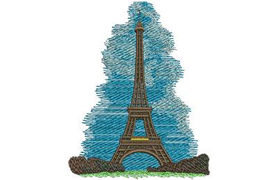 Embroidery Design: Eiffel Tower Sm 3.58w X 4.59h