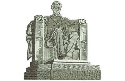 Embroidery Design: Lincoln Monument Lg 4.40w X 4.52h