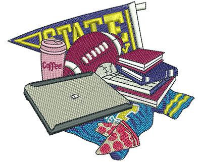 Embroidery Design: Collegiate College Med 4.73w X 4.02h