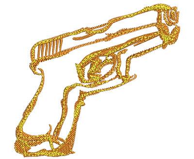 Embroidery Design: Hand Gun Fire Med 3.00w X 2.78h