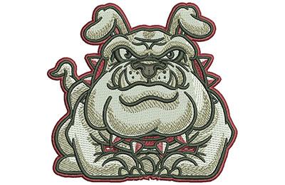 Embroidery Design: Cartoon Bulldog Standing Med 3.72w X 3.51h