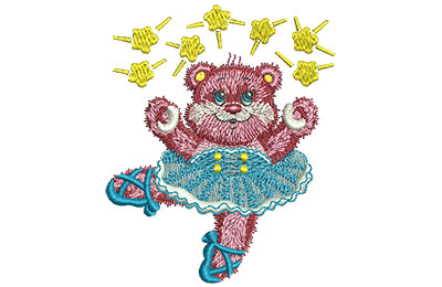Embroidery Design: Ballet Bear Med 2.87w X 3.50h